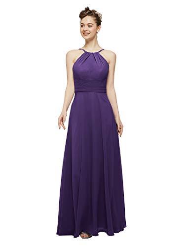 (AW Bridal Long Bridesmaid Dresses Chiffon Prom Dresses A-Line Formal Dresses for Women, Regency, US6)