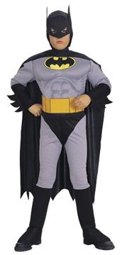 [Super DC Heroes Deluxe Muscle Chest The Batman Child's Costume] (60s Dress Up Costumes)