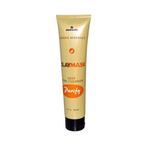 Zion Health Clay Mask Deep Pore Cleanser, 4 Ounce - Deep Pore Clay Cleanser
