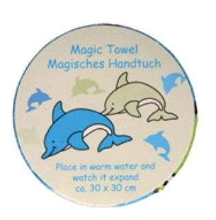 Toalla para la cara Ravel toalla mágica con texto en diseño de delfín