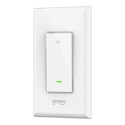 Smart Wi-Fi Light Switch, TanTan 15A In-wall Smart Switch that Compatible with Alexa, Google Home and IFTTT, Single-Pole, No Hub required [Timer, Scene, Group Control], ETL and FCC listed. (1pack)