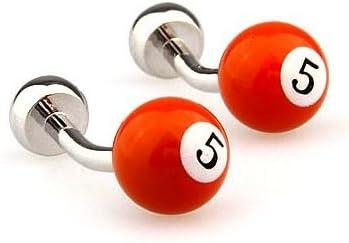 Gemelolandia - Gemelos bola de billar numero 5 naranja de forma ...