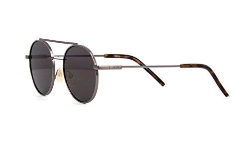 Fendi FF0221/S Sunglasses Silver Grey w/Dark Grey 52mm Lens KJ1M9 FF0221S FF 0221S FF - Fendi Sunglasses Prescription