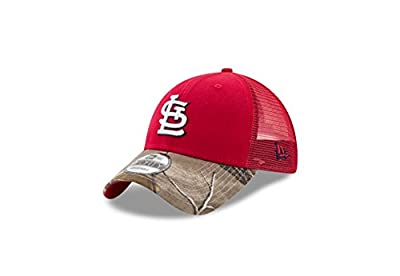 St. Louis Cardinals Realtree Camo Bill Trucker 9FORTY Adjustable Hat / Cap by New Era