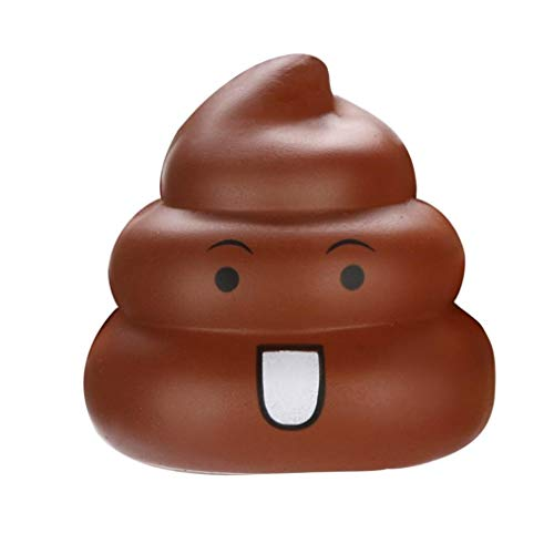 callm Squishies Emoji Poo Foamed Stuffed Slow Rising Jumbo Squishy Toys Kawaii Cute Scented Squishies Kids Party Squishy Stress Reliever Toy (Brown)