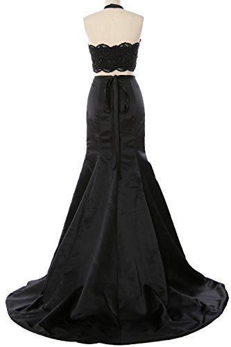 Evening Mermaid Long Piece Dress 2 MACloth Halter Gorgeous Prom Formal Turquoise Lace Gown 4vxf1