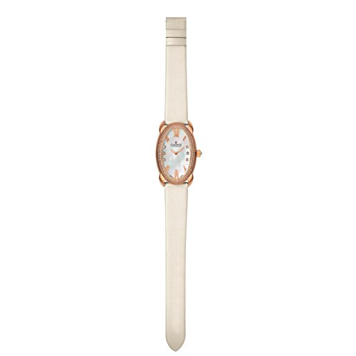 Charmex Tuscany 6255 28x42.5mm Stainless Steel Case White Calfskin Synthetic Sapphire Women's Watch