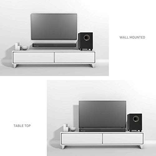 2.1 Channel Bluetooth Sound Bar Wohome TV Soundbar with Subwoofer 120W 32Inch 95dB 4 Drivers Remote Control 2019 Updated Model S18 by WOHOME (Image #7)