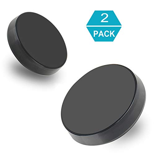 Flat Surface Mount - Magnetic Flat Phone Holder [2 pack], MTRONX Strong Magnet Car Mount Stick On Dashboard Flat Surface Multifunction Portable Universal for Apple iPhone Samsung Sony Smartphones GPS - Black(MPHF-BK-2P)