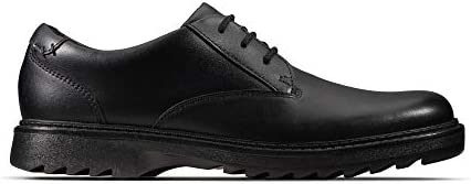 Clarks Asher Jazz Y, Derbys garçon, Noir (Black Leather Black Leather), 40 EU