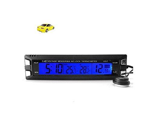 BW EA-CarClock-KT202_e1 Horloge embarquée à affichage numérique LCD avec thermomètre / afficheur de tension et alerte verglas. CHINA OEM BWCarClock