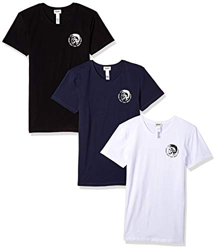 Diesel Herren Umtee-randalthreepack Maglietta Unterhemd (3er Pack)
