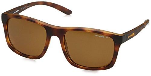 Arnette para hombre complementario polarizadas anteojos de sol cuadrados, Mate Havana, 57mm