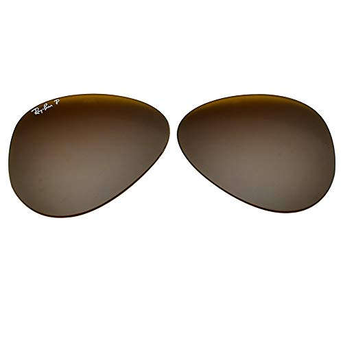 Ray-Ban Replacement Polarized Lenses for RB3025 Brown Polarized 58-14 (Lenses Ray Ban)
