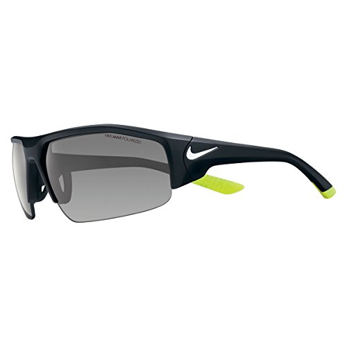 Nike EV0860-017 Skylon Ace XV P Sunglasses (One Size), Matte Black/White, Grey Polarized Lens