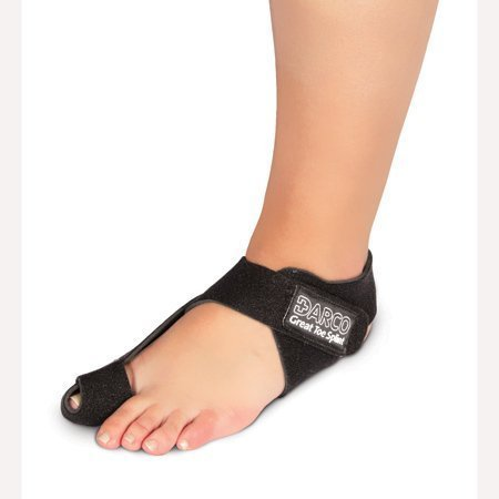 DARCO GTS Black Great Toe Alignment / Bunion Adjustable Splint For Hallux Valgus And Other Joint Conditions (SM/RIGHT W5-7.5/M7-9.5)