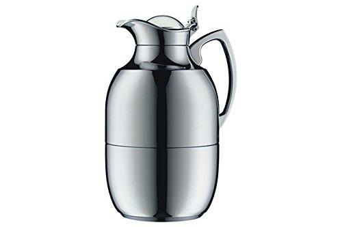 Alfi vacuum carafe Juwel Top Therm, Thermal carafe, Coffee Pot, Chrome plated brass, 1.5 Liter, ()