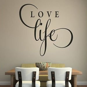 iconic stickers love life inspirational wall sticker love quote