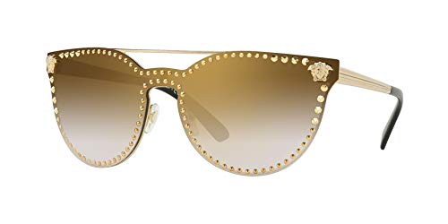 Versace Women's VE2177 Pale Gold/Gold Mirror One ()
