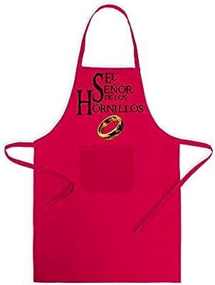 SAQUITOMAGICO Delantal de Cocina El señor de los hornillos (Rojo ...