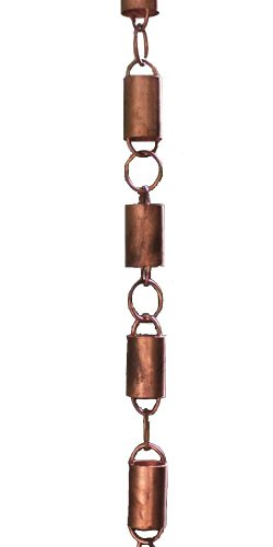 All Copper Channel Link Rain Chain by Rain Chains Direct (8.5 Feet)