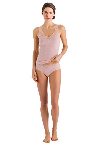 HANRO Women's Lace Delight Tank Top, Tender Apricot, - Camisole Daywear Lace