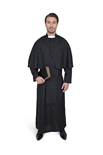 Men's Priest Costume, for Halloween Costume Party Accessory, Extra -