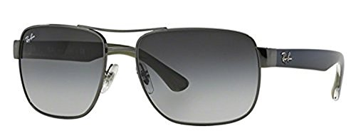 Ray-Ban RB 3530 Sunglasses Gunmetal / Grey Gradient 58mm & HDO Cleaning Carekit - Ray Ban Used