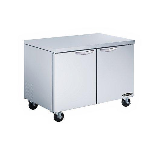 Kool-It KUCR-48-2 Stainless Steel Undercounter Double Door Refrigerator, 48.3