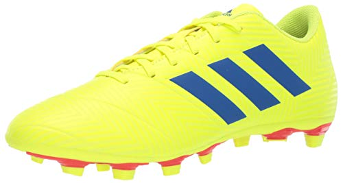 adidas Men's Nemeziz 18.4 Firm Ground, Solar Yellow/Football Blue/Active red, 8 M US