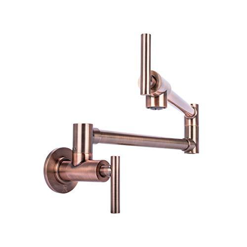 Brienza by Italia, K62202-AC, Contemporary Pot Filler Kitchen Faucet in Rustic Antique Copper ()