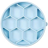 Silicone High Grade Pet Dog Interactive Maze Slow Food Feeder Bowl Healthy Anti Slip Dish Healthy Eating (Small, Blue)