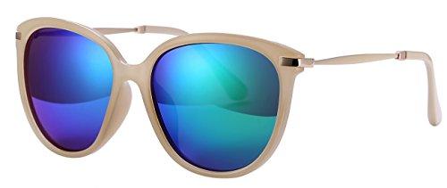 Women's Sunglasses UV Protection Polarized eye glasses Goggles UV400 (White frame/green lens, As - Uvb Sunglasses Protection Women Uva