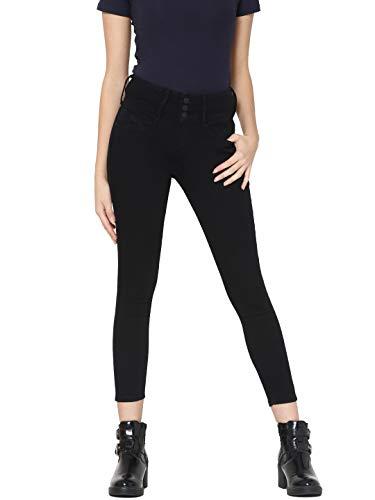 Skinny Jeans Noir Noir Femme Black Only 5agpg