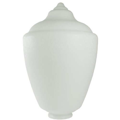 (White - UV Resistant Acrylic - Acorn Street Lamp Globe - 17.62 in. High - 3.82 in. Neck Exterior - American PLAS-L467)