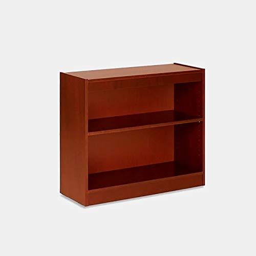BUkk Wood Bookcase - 2 Tier Bookcase - Cherry -