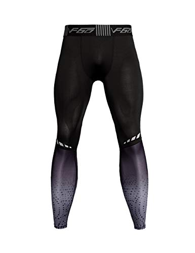 aa9730bd85aa6 Men's Bodybuilding Compression Legging Tights Pants Baselayer Cool Dry Black  With Grey Color Size S