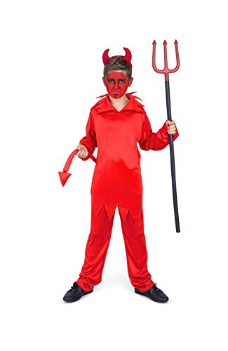 Boy's Red Devil Costume - for Halloween Costume Party Accessory - Small]()