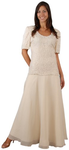 The Evening Store Mother of the Bride Great(2X) plus size champagne