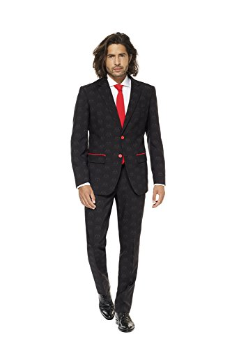 Darth Vader In Suit (OppoSuits Star Wars Suit Of – Official Darth Vader Costume Comes With Pants, Jacket and Tie – 100%)