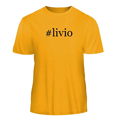 (Tracy Gifts #Livio - Hashtag Nice Men's Short Sleeve T-Shirt, Gold, XX-Large)