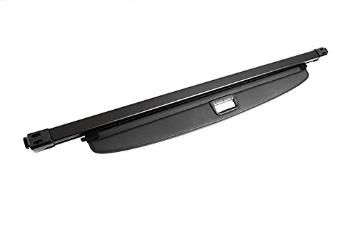 (Vesul Black Tonneau Cover Retractable Rear Trunk Cargo Luggage Security Shade Cover Shield Compatible with Mitsubishi Outlander 2014 2015 2016 2017 2018 2019(with Manual Liftgate))