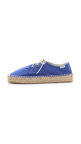 Soludos Womens Canvas Plattform Derby Flats Klein Blue