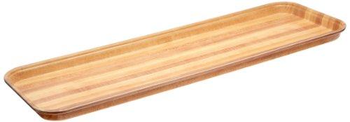 "Carlisle 269WFG063 Fiberglass Glasteel Wood Grain Display/Bakery Tray, 8.75"" x 25.50"", Pecan (Case of 12)"