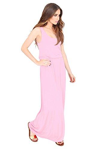 Amberclothing Damen Kleid Rosa Babyrosa ELPuyb - mci ...