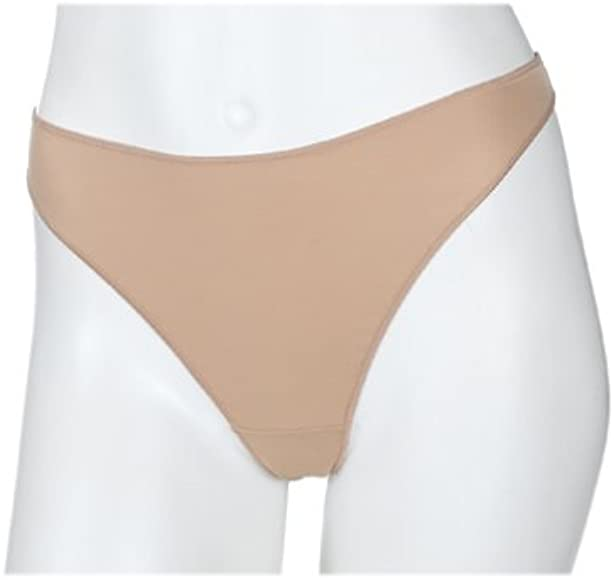 c86eccc4a10f Maidenform Women's No Show Nylon Thong Panty, Nude, 5 at Amazon ...