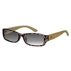 EyeBuyExpress Bifocal Sunglasses Reader Womens Mens Tortoise Bamboo Wood Temples Anti Glare