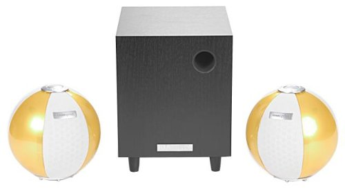HANNspree Circus 2.1 Channel Speaker System - Yellow (KS05-21U1-002) by Hannspree