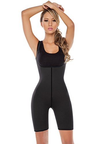 CHENXI New Hot Womens Neoprene Reversible Wearable Sudatory One Piece Open Bust Skintight Bodysuit without Sleeves for Body Shaping and Weight Loss