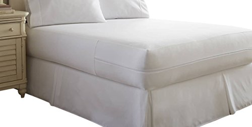 Bed Bugs Comforter (Simply Soft Ultra Soft Bed Bug Mattress Protector, Queen, White)